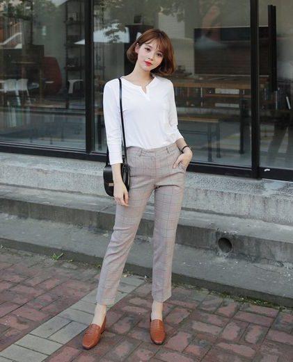 """Phối đồ với quần tây baggy chuẩn trend, không lo bị """"dừ"""" - YuriBonShop -  0909790088"""